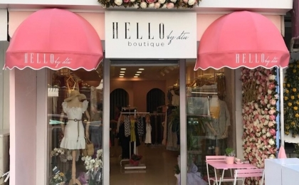 Hello Boutique Bellows Awning System